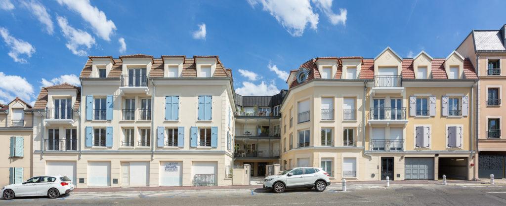 Résidence collective à Bougival réalisée par Prim'Arte.